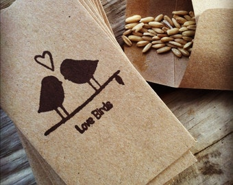 100 kraft brown wedding rice/seed envelopes/bags