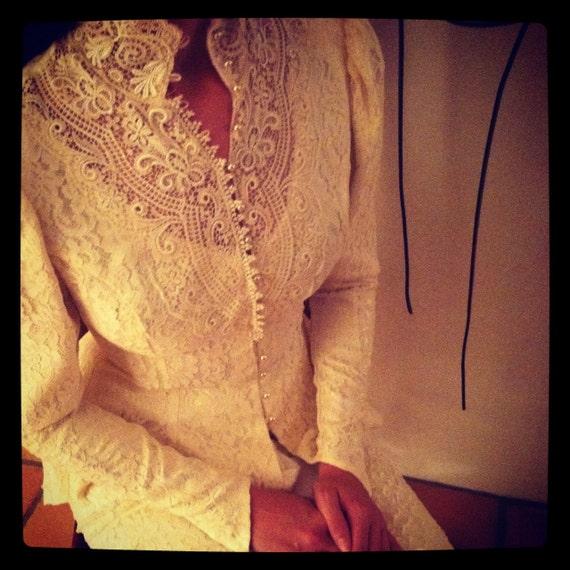 Ivory Vintage Jessica McClintock wedding dress
