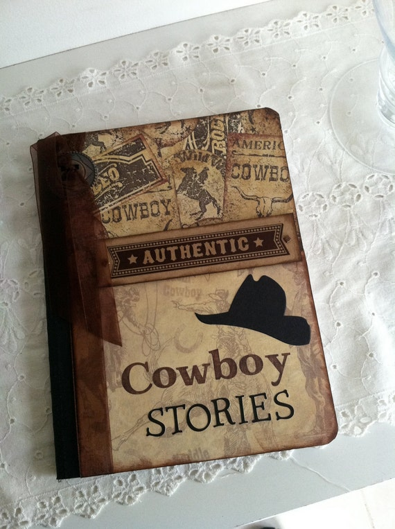 Altered cowboy composition journal/notebook