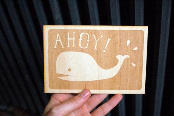 Ahoy Wooden Card
