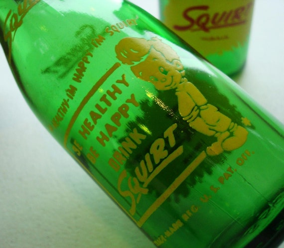 1952 Squirt Soft Drink Salt and Pepper Shakers