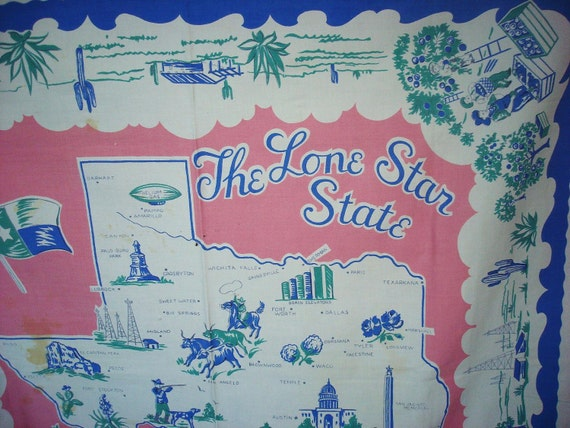 Great Big TEXAS Souvenir Tablecloth