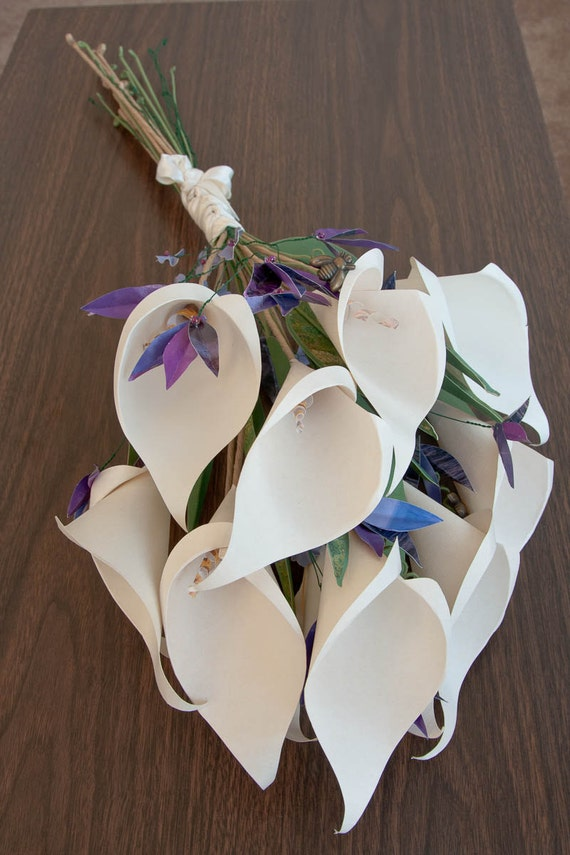 RESERVED FOR JEE: Paper Calla Lilies Bouquet