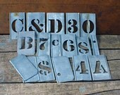 Interlocking Metal Stencils Letters and Numbers