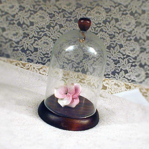 Vintage Glass Dome Display for Pocket Watch
