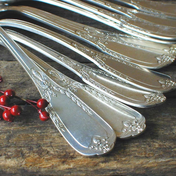 Vintage French Silver Spoons by Ravinet d'Enfert 1910-20