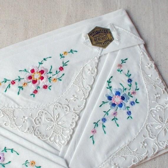 Vintage Handkerchief Hanky Set Unused