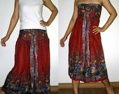 3in1 Summer halter Boho beach hippie floral sun dress / skirt