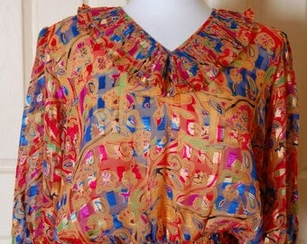 Vintage Sheer Ruffles Blouse from 1980s