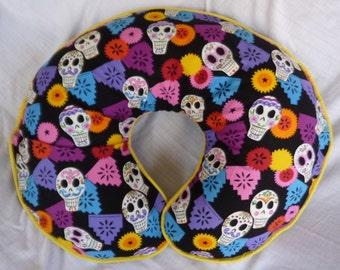 Day of the Dead Skulls Boppy Cover Nursing Pillow Cover