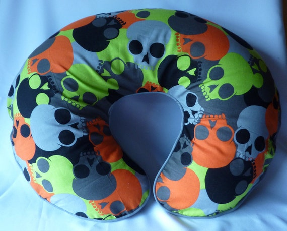 Lime Green and Orange Forever Gothic Nursing Pillow Cover - fits Boppy Pillows