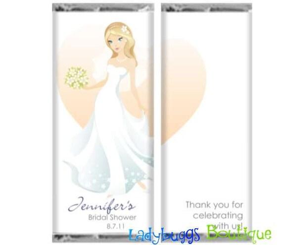 Beautiful Bride Bridal Shower Favor Candy Bar Wrapper