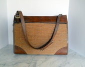 Hartmann Overnight Travel Bag // Vintage Nutmeg Brown Tweed