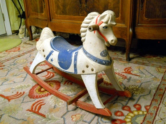 1950s Buddo Rocking Horse //  Sears (reserved for Jenna until 6 pm CDT today, 6/18/13)