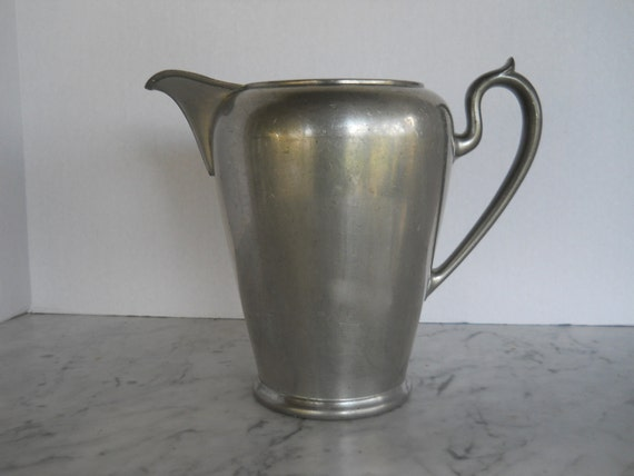 Antique Pewter Pitcher // Hallmarked Royal M.M.Co