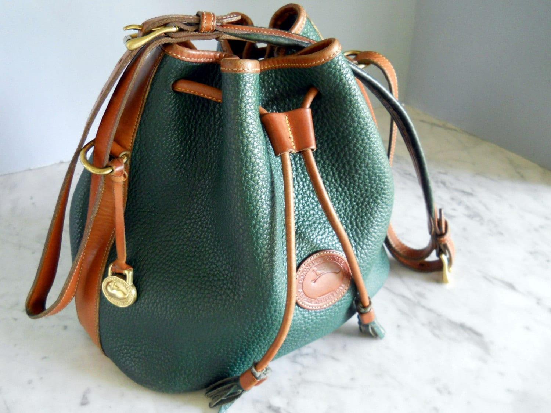 Dooney Bourke Bucket Bag Hunter Green