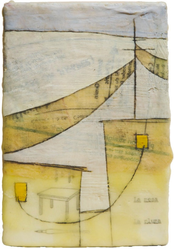 Reserved for Erin CM. Original Mixed Media Encaustic Painting - a safe place to be