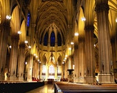 Inside St. Pat's Cathedral NYC Photo  5x7 CUSTOM LISTING