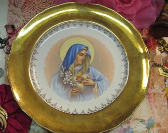 Catholic Print Picture MOTHER MARY Picture Sorrowful our Lady of the Thumb, Madonna of the Finger, Our Blessed Mother, vivid color Religious CHRISTAIN Free Shipping