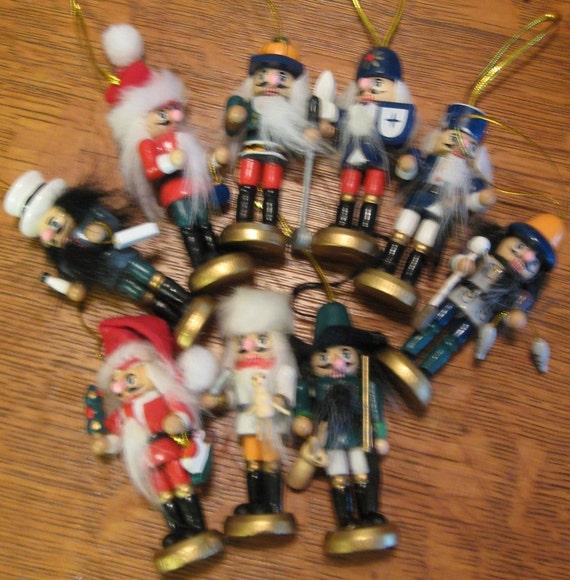 Christmas in July NUTCRACKER LOT Christmas Decoration Holiday  9 Nutcrackers Sale coupon code10moj2