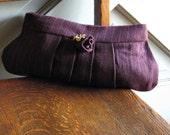 Purple Pinstripe Clutch
