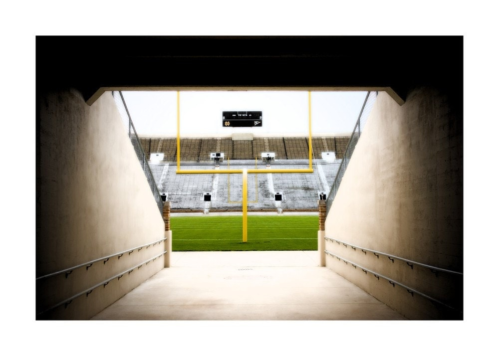 irish notre dame stadium  fine art