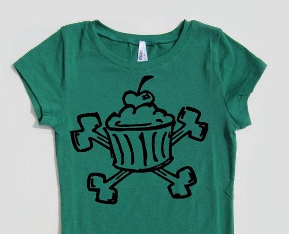 Cupcake Cross Bones T Shirt Design Your Own Shirt Cupcake Tee