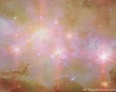 ASCENSION Fine Art Giclee 24 x 30 36 X 48 HUGE Poster Stars Heavens Celestial Space Golc Pink Ethereal Luminous Supersize XL Art Trend