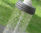Tall Quilt Pattern Ball Mason Jar with Reproduction Zinc Lid Soap Dispenser