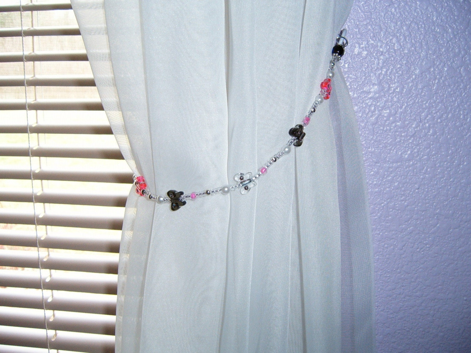 Handcrafted Beaded Butterfly Curtain Tie Backs By Tjsgiftsdesigns