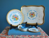 Vintage Ten Piece Toy Dish Set
