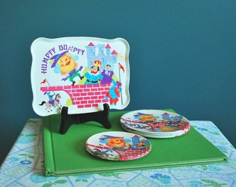 Vintage Eight Piece Humpty Dumpty Toy Dish Set