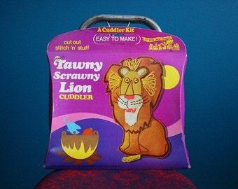 Vintage Tawny Scrawny Lion Plushie Sewing Kit