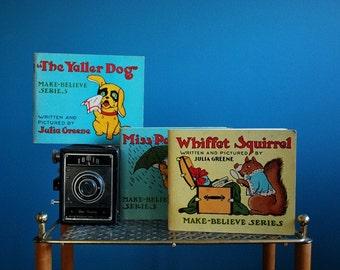 Set of Three Antique Make-Believe Series Children's Books
