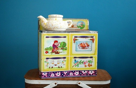 RESERVED for Myra - Vintage Metal Toy Stove