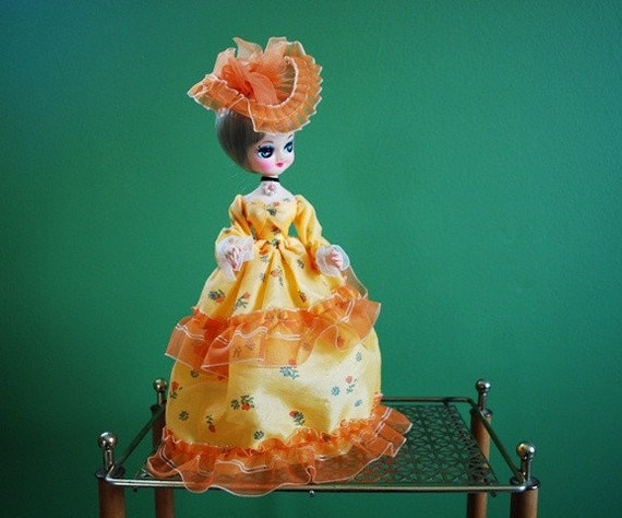 Vintage Orange and Yellow Bradley Doll