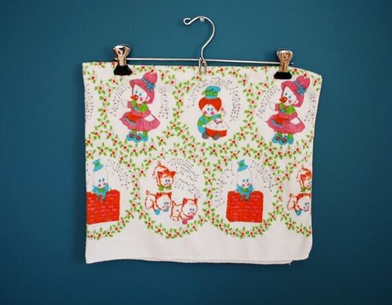 Vintage Receiving Blanket with Nursery Rhyme Print