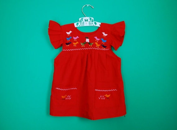 Ethnic Emroidered Girl's Dress- Size 24 Months/2T