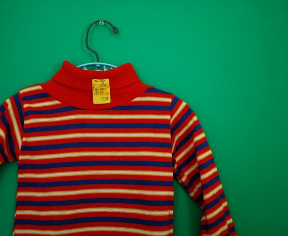Vintage 1970s/1980s Striped Shirt by Buster Brown- New Old Stock- Size 2T