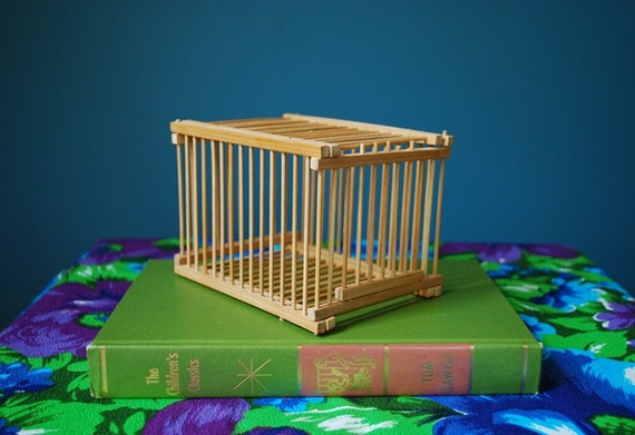 Vintage Bamboo Cricket Cage