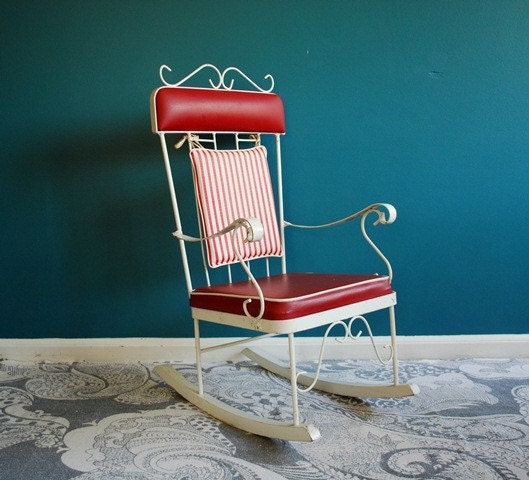 Vintage Metal Childs Rocking Chair By Sweetshopvintage On Etsy