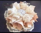 """How to Make a Fabric Flower """"Pouting Princess"""" Fabric Flower and Headband Tutorial"""