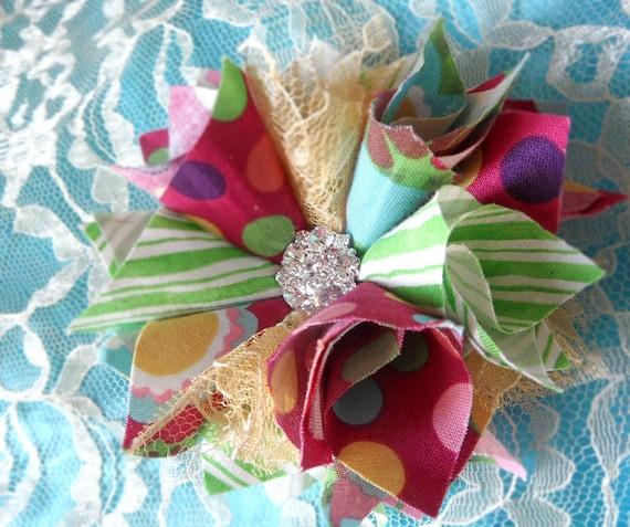 Flower Headband Tutorial: Fabric Flower And Headband Tutorial/ By Fancyschmancybyjeni