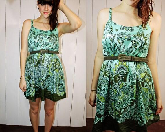 Back to the Basics Dress- Turquoise Paisley S M