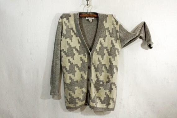 Grey and Cream Sweater L