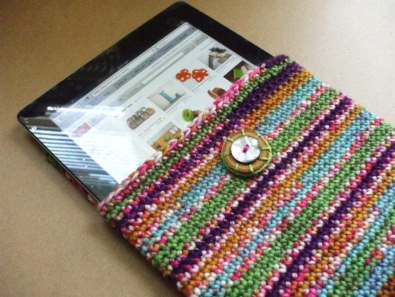 Super Cute iPad Case iPad Cover IPad Sleeve Multicolored Eclectic Naturally Cushioned iPad Carrier Colorful Unique Gift Idea