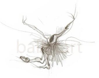 Ballet Artwork, Swan Lake Bow, Ballet Art, art print, black and white, dance wall art, ballerina gift, hand drawing, gift for dancer, sketch