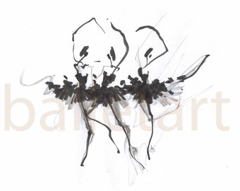 dance art prints, wall art, WithoutTheFourthSwan, Ballet art, ink, pencil drawing, black and white art, ballerina, artwork