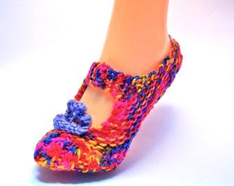 Cosy House Slippers (rainbow)
