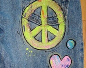 Flower Child Hand-Painted Jeans